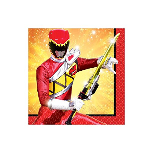 Amscan Power Rangers Dino Charge Birthday Party Beverage Napkins Tableware (16 Pack), 5