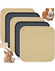 Jetec 5 Pieces Guinea Pig Cage Liners Washable and Reusable Guinea Pig Pee Pads Anti-Slip and Highly Absorbent Guinea Pig Bedding Waterproof Pet Training Pads for Small Rabbit Hamster Rat