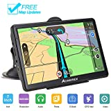 GPS Navigation System 7 inch 8GB 256MB Car Truck Lorry Satellite Navigator Device with Post Code POI Search Speed Camera Alerts with Turn-by-Turn Directions Lifetime Map Update