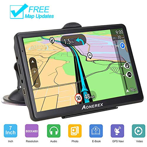 GPS Navigation for car Spoken Turn-by-Turn Directions, Direct Access, Driver Alerts,7 inch GPS Navigator System with Touch Screen/ 8GB Memory/Lifetime Map Update