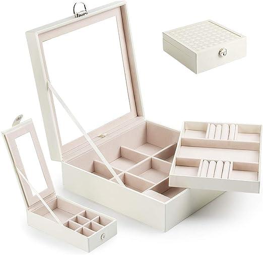 Caja Joyero con Espejo Caja para Joyas joyero Caja de Joyas ...