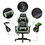 Gaming Chair, Racing Style Office High Back Ergonomic Conference Work Chair Reclining Computer PC Swivel Desk Chair with…