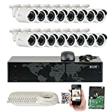 GW Security 16 Channel 4K NVR 1920P IP Camera Network POE Video Security System – 16 x 5MP (2592 x 1920) Waterproof Bullet Cameras, Quick QR Code Easy Setup, Pre-Installed 4TB Hard Drive For Sale