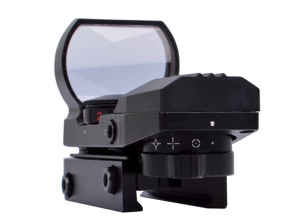 Hauska Rot Gr/ün Dot Reflex Sight Leuchtpunkt Zielvisier Holographic Scope 4 Reticles f/ür Jagd Softair Pistole und Armbrust