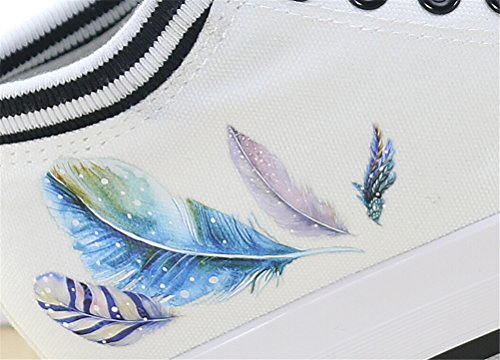 Satuki Tallone Nascosto Moda Scarpe Da Ginnastica Per Le Donne, Zeppa Piattaforma Stringate Casual Scarpe Sportive Bianche Di Tela C