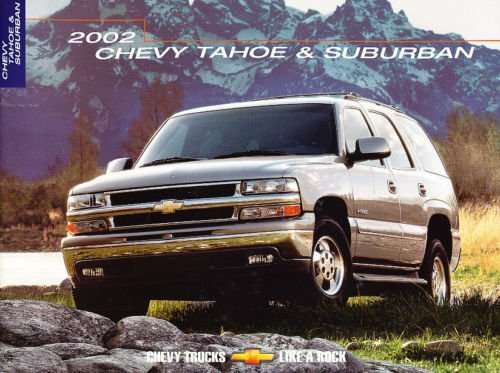 2002 Chevrolet Chevy Tahoe and Suburban 24-page Dealer Canada Sales Brochure (Chevy Tahoe Dealers)