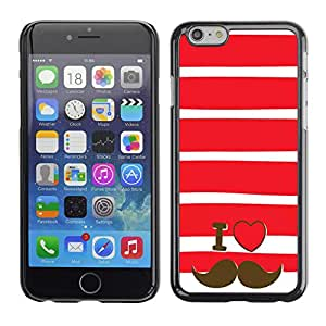 SHIMIN CAO- Dise?o Caso duro de la cubierta Shell protector FOR Apple iPhone 6 6S 4.7- I LOVE DADDY