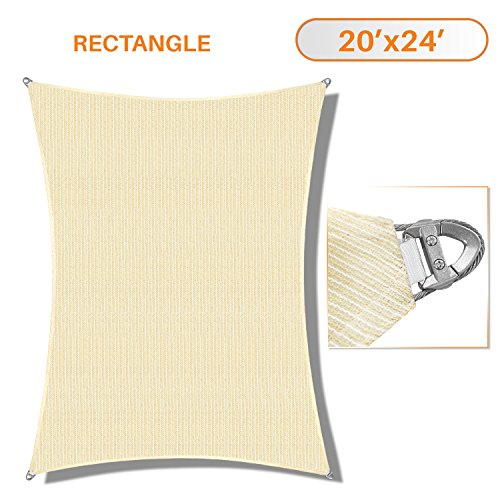 Cheap  Sunshades Depot A Ring Design Steel Cable Wire Reinforcement Sun Shade Sails..