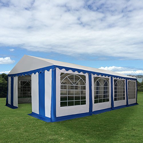 New MTN-G 16 2/5'X26' Tent Shelter Heavy Duty Outdoor Party Wedding Canopy Carport Blue by MTN Gearsmith