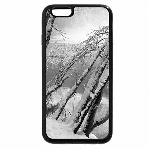 iPhone 6S Case, iPhone 6 Case (Black & White) - river thru winter
