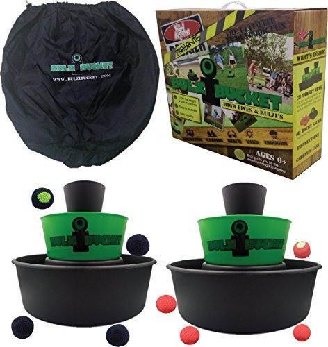 Kid Agains Bulzibucket intérieur/extérieur/plage/Camping/Party d'avant match & Yard jeu, noir/vert