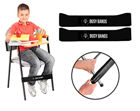 Strange Busy Bands Chair Bands For Kids With Fidgety Feet Fidget Bands For School Classroom Chairs Ideal For Adhd Autism Hyperactivity Size 20 X 2 Gamerscity Chair Design For Home Gamerscityorg