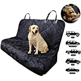 Fityou Dog Car Seat Covers, Waterproof Pet Cover for Backseat Hammock 600D Oxford Fabric Scratchproof & Non-slip Bench Seat Cover Compatible for Middle Seat Belt and Armrest Fits Most Cars, Trucks, SUVs