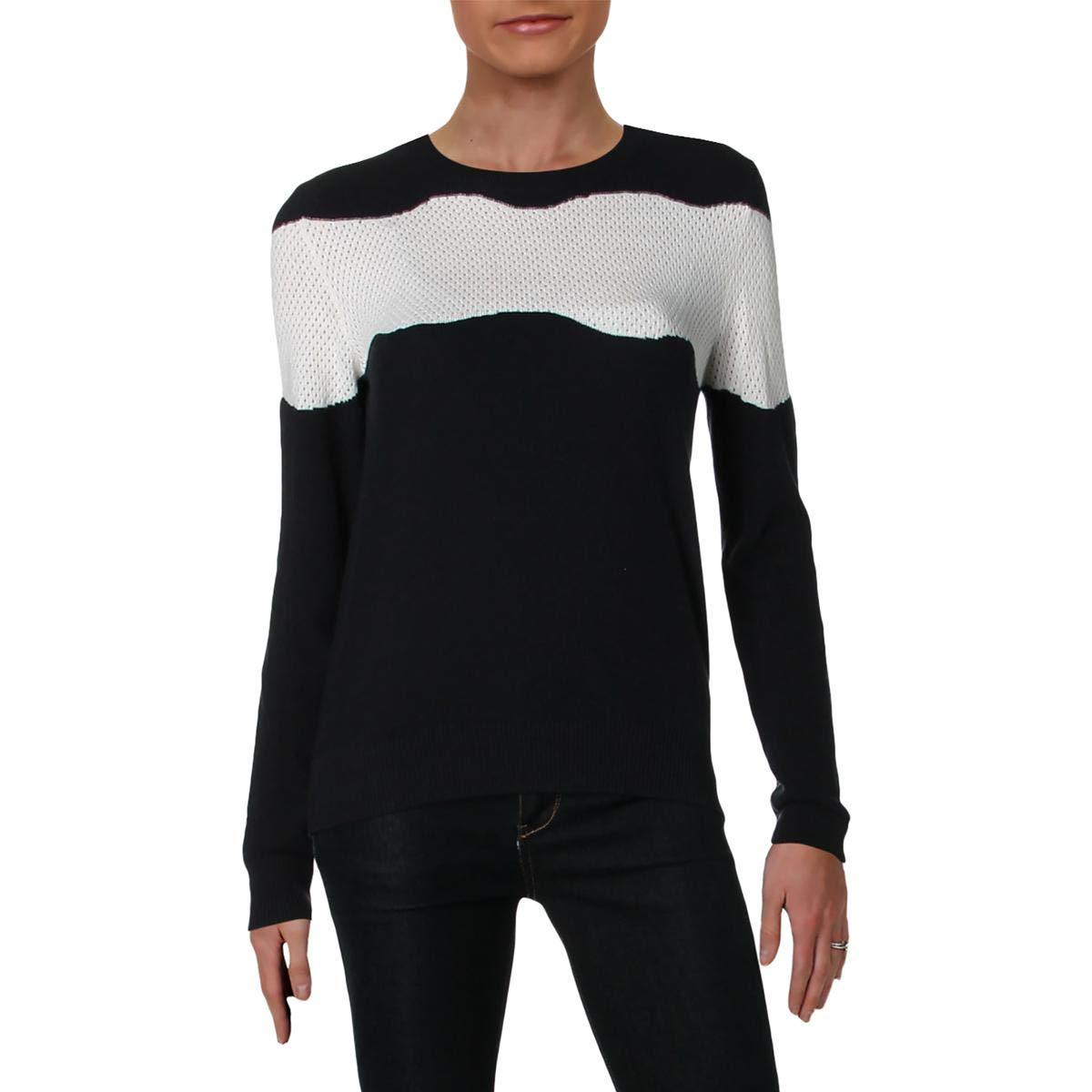 Jil Sander Navy Womens Wool Colorblock Pullover Sweater