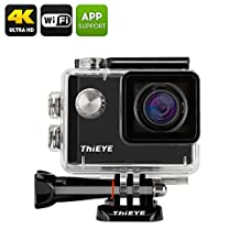 ThiEYE i60 4K Action Camera - 152 Degree Wide Angle, 12MP, 1.5 Inch TFT Display, Loop Recording (Black)