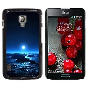 Be Good Phone Accessory // Dura Cáscara cubierta Protectora Caso Carcasa Funda de Protección para LG Optimus L7 II P710 / L7X P714 // Space Planet Galaxy Stars 64