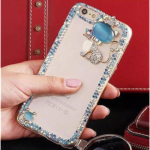 Samsung Galaxy S7 Diamond Case,Blixy 3D Dual Bling Shiny Sparkling Diamond Cat Case With Full Crystal Margin Soft Sales