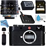 Leica M (Typ 262) Digital Rangefinder Camera 10947 Summicron-M 28mm f/2.0 Lens + 64GB SDXC Card + Card Reader + Deluxe Cleaning Kit + Fibercloth Bundle