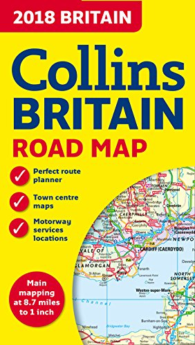 2018 Collins Britain Road Map (England Map)