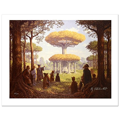 """""""Lothlorien"""" Limited Edition Giclee on Canvas by The Brothers Hildebrandt! Numbered and Hand Signed by Greg Hildebrandt! Includes Certificate of Authenticity!"""