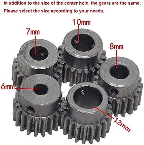 AGiao Components 1M 20Teeth Diam/ètre de Trou de 6mm 7mm 8 mm 10 mm 12mm motor/éducteur Gear Hole Diameter : 6mm, Number of Teeth : 20 Teeth