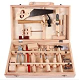 WellieSTR 16-piece Wooden Tool Box Set Toolbox multifunctional disassembly carpenters box wooden boy...