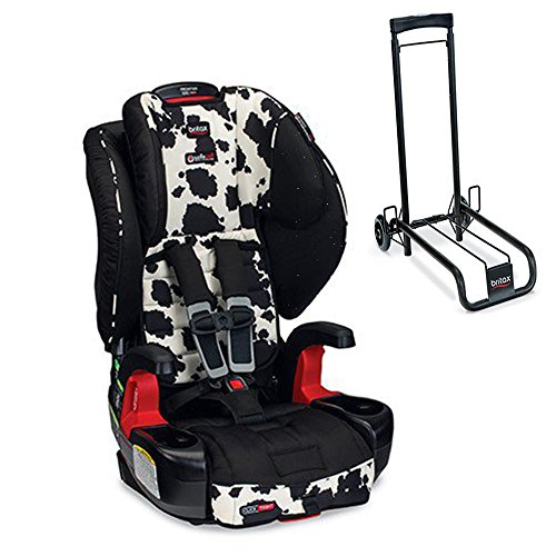 Britax Frontier G1 1 Clicktight Harness 2 Booster Car Seat W Car Seat Travel Cart Black Cowmooflage