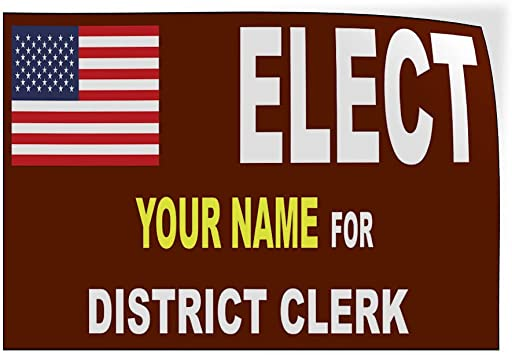 Custom Door Decals Vinyl Stickers Multiple Sizes Elect Name for Position White Black O Political Elect Signs Outdoor Luggage /& Bumper Stickers for Cars White 52X34Inches Set of 2