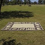 REVERSIBLE MATS 6-Feet x 9-Feet Outdoor Patio RV