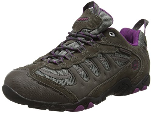- Hi-Tec Women's Penrith Low Waterproof Walking Shoe Charcoal/Purple