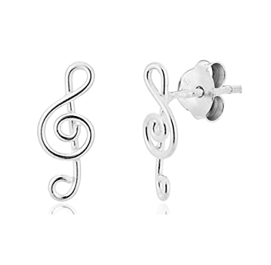 Ohrringe silber notenschlussel