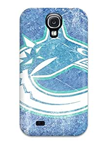 Rugged Skin Case Cover For Galaxy S4- Eco-friendly Packaging(vancouver Canucks (1) )