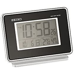 Seiko CLOCK clock 2-channel alarm temperature and humidity radio digital alarm clock (black) SQ767K