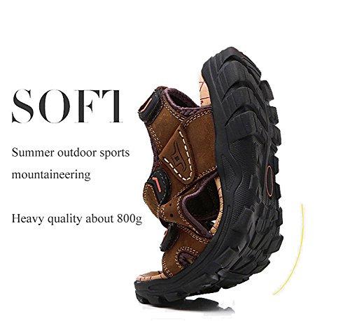 Plage Été Randonnée De Sport Hommes Decontracte Homme Gelb Sandale Air Respirant Chaussures Cuir Marche Sketchers YRqUOxO