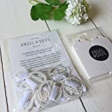 Angel & Dove 10 Compostable Balloon Seals with String & 10 Message Tags - the fastest & easiest way to tie your balloons!
