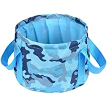 HQST Collapsible Folding 15L Orange Water Bucket…