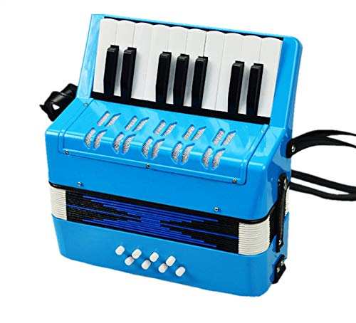 SFQNPA 17K 8B Mini Accordion Children's Accordion Instrument ABS Plastic Piano Accordion Educational Instrument for Students Beginners Children's Instrument (Blue) by SFQNPA (Image #8)