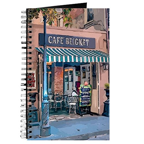 CafePress - Cafe At Jazz Fest - Spiral Bound Journal Notebook, Personal Diary, Task Journal (Quarter Fest French)