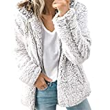 VESNIBA Women Autumn Long Sleeve Thick Hooded Open Stitch Coat Jacket Cardigan Clearance