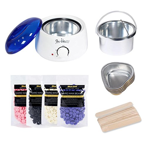 Inkach Wax Warmer Machine Kit - Electric Hair Removal Bean/Wiping Sticks/Hot Wax Warmer Heater Pot Multicolor ruatVF