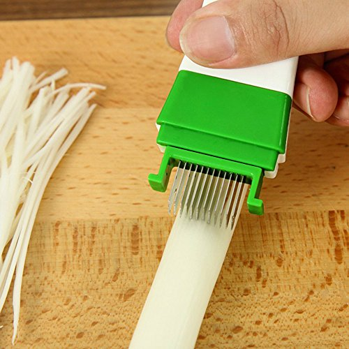 Euone Kitchenware Cooking Tools Cut Onion Slicer Magic Shredded Vegetable Knife (Onion Wall Mounted Outdoor Light)