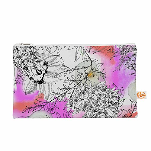 "KESS InHouse Danii Pollehn ""Flower lights"" Pink White Eve..."