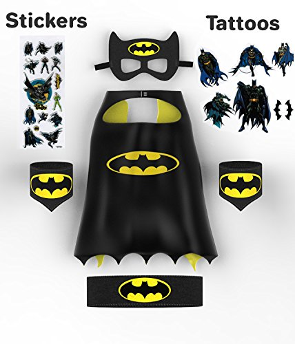 UNIQUE Child Batman Cape Set, QUALITY Batman Costume for Kids 3 - 9 Years
