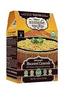 Kim's Simple Meals Vegetarian Dairy Free Macaroni & Cheese, Organic, Gluten Free, Vegan, Non GMO, Kosher, 10.5 oz Box, Pack of 6