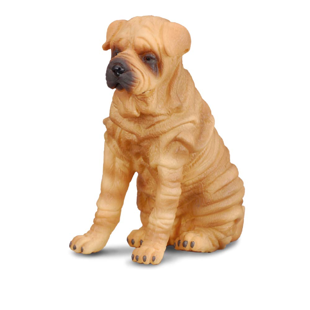 Shar Pei Adult and Puppy by CollectA;//Charpei//Sharpei//toy// dog