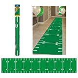football decoration for party - Amscan Football Frenzy Birthday Party Floor Runner Decoration, Fabric, 10' X 2' Party Supplies