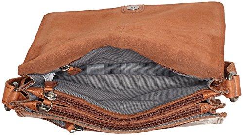 Spikes & Sparrow Flap Bag - Bolsos bandolera Mujer Marrón (Brandy)