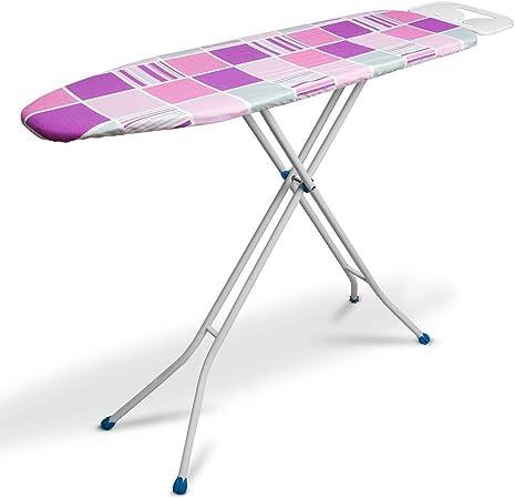 takestop® - Tabla de planchar plegable, doble función de escalera/taburete de 3 peldaños, tabla resistente, color aleatorio: Amazon.es: Hogar