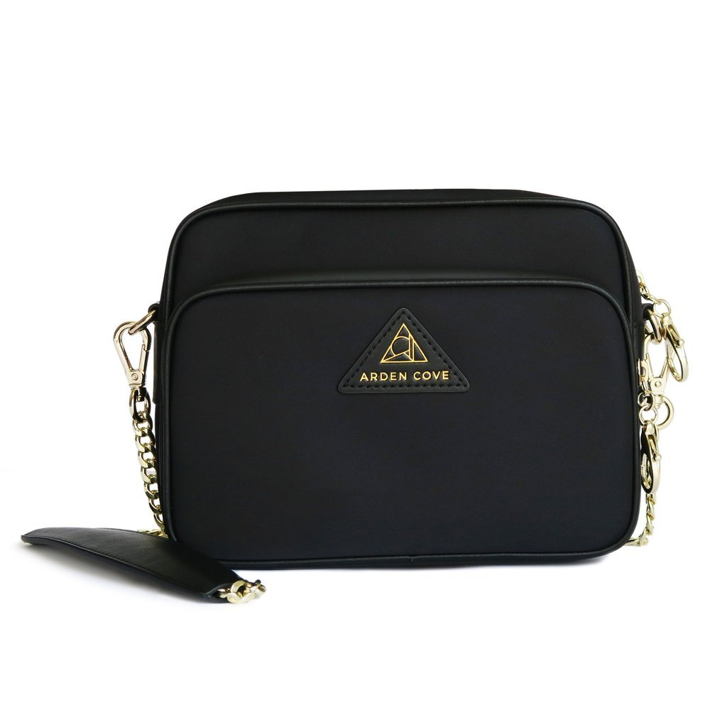 Arden Cove Full Anti-Theft Waterproof Cross-Body Bag (20'' Drop Length, Black) by Arden Cove