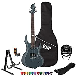 esp ltd f10kit gsb electric guitar with 10 feet cable strap stand dvd tuner. Black Bedroom Furniture Sets. Home Design Ideas